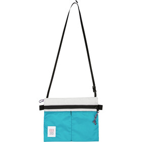 Topo Designs Accessory Shoulder Bag, white/turquoise
